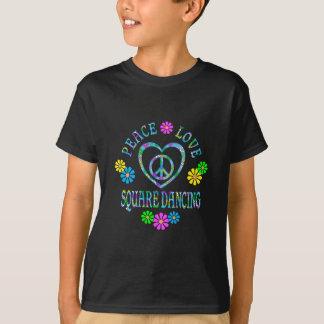 Peace Love Square Dancing T-Shirt