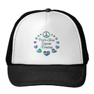Peace Love Square Dancing Trucker Hat