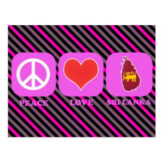 Peace Love Sri Lanka Postcard