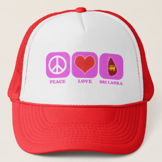Peace Love Sri Lanka Trucker Hat