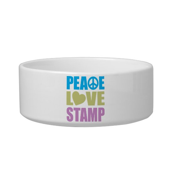 Peace Love Stamp Bowl