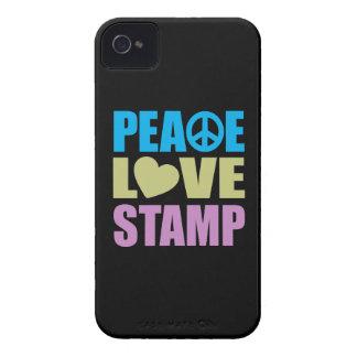 Peace Love Stamp iPhone 4 Case-Mate Case