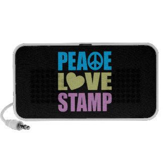 Peace Love Stamp Portable Speaker