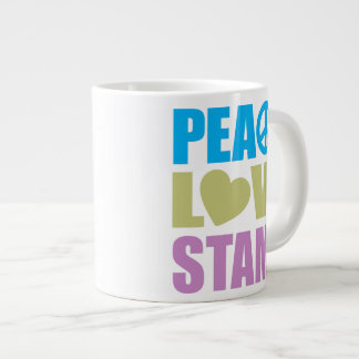 Peace Love Stamp Extra Large Mugs