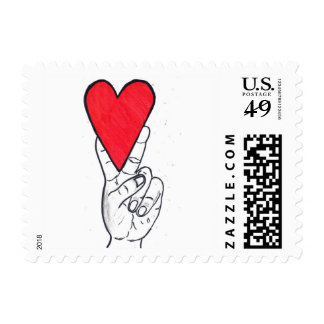 Peace & love stamps