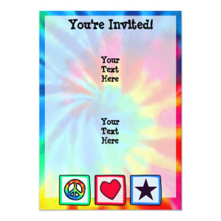 Peace, Love, Stars Card