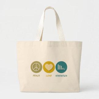 Peace Love Statistics Jumbo Tote Bag