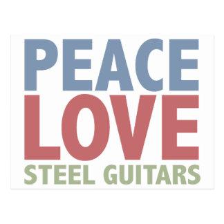 Peace Love Steel Guitars Post Card
