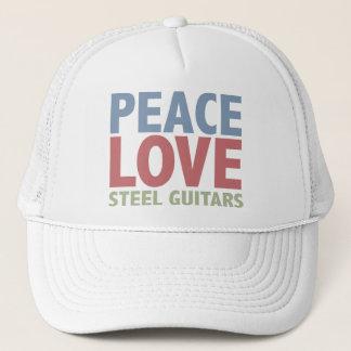 Peace Love Steel Guitars Trucker Hat