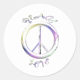 peace love round sticker