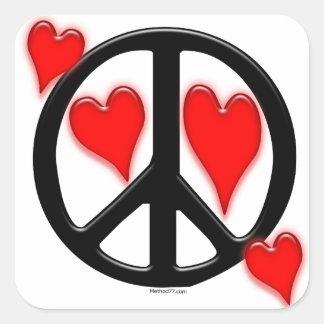 Peace & Love Stickers