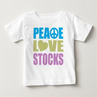 Peace Love Stocks Baby T-Shirt