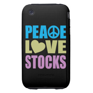 Peace Love Stocks iPhone 3 Tough Cover