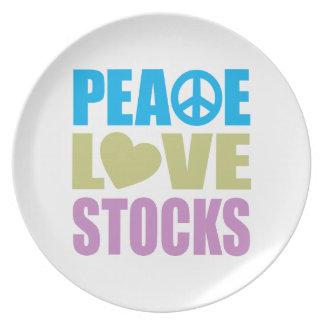 Peace Love Stocks Dinner Plate