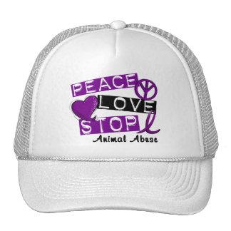PEACE LOVE STOP Animal Abuse Mesh Hats