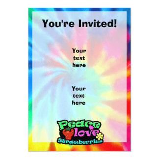 Peace, Love, Strawberries 5x7 Paper Invitation Card