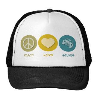 Peace Love Stunts Trucker Hat
