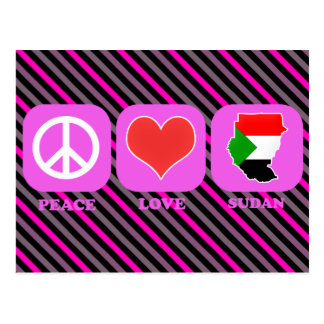 Peace Love Sudan Postcard