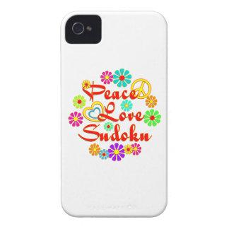 PEACE LOVE Sudoku iPhone 4 Case