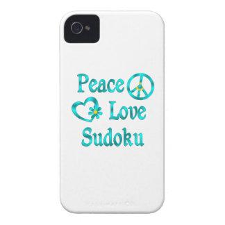 Peace Love Sudoku Case-Mate iPhone 4 Case