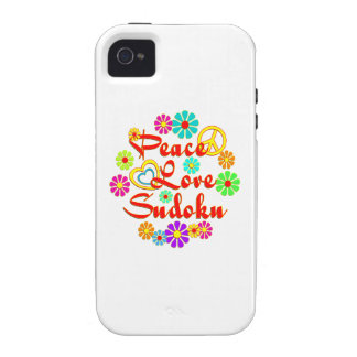 PEACE LOVE Sudoku Vibe iPhone 4 Cover