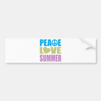 Peace Love Summer Bumper Sticker