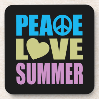 Peace Love Summer Drink Coaster