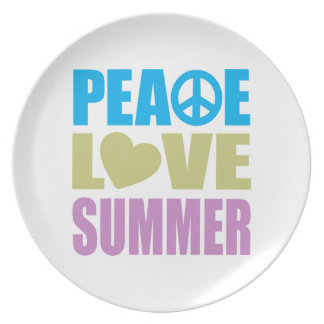 Peace Love Summer Melamine Plate