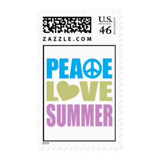 Peace Love Summer Postage Stamps