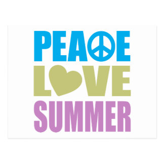 Peace Love Summer Postcard