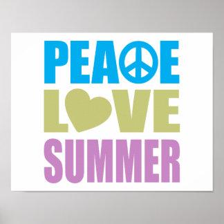 Peace Love Summer Print