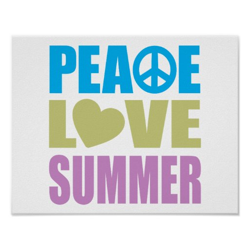 Peace Love Summer Poster