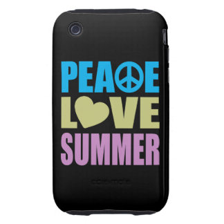 Peace Love Summer Tough iPhone 3 Cover