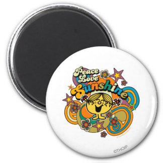 Peace Love Sunshine 2 Inch Round Magnet