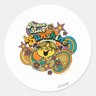 Peace Love Sunshine Classic Round Sticker