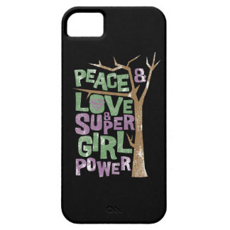 Peace Love & Supergirl Power iPhone 5 Covers