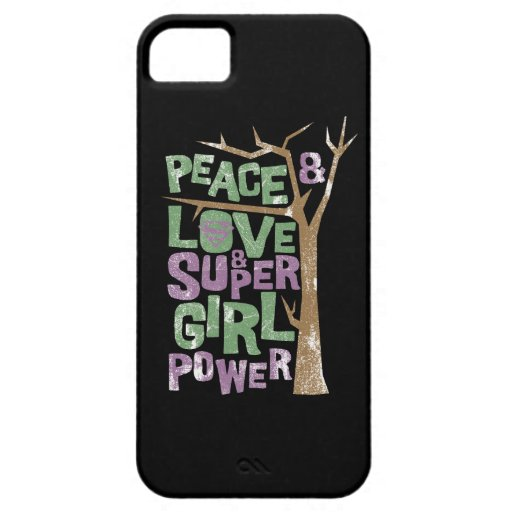 Peace Love & Supergirl Power iPhone SE/5/5s Case
