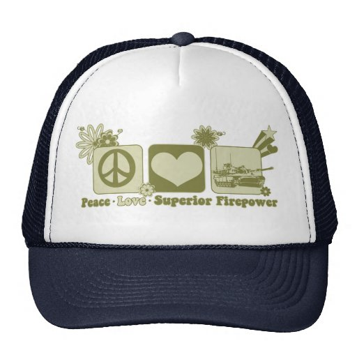 Peace Love Superior Firepower Trucker Hat