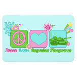 Peace Love Superior Firepower Vinyl Magnet