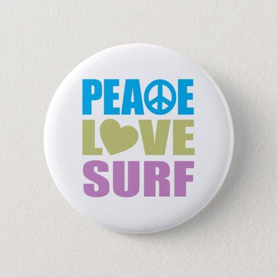 Peace Love Surf Button