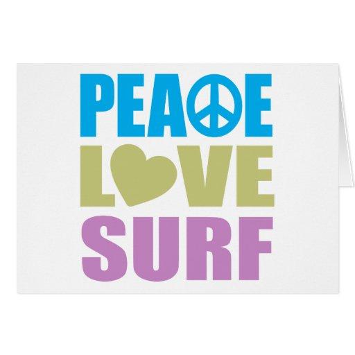 Peace Love Surf Card