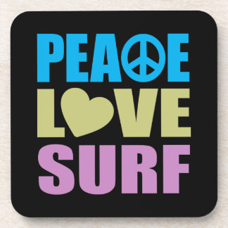 Peace Love Surf Coaster