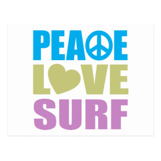 Peace Love Surf Postcard
