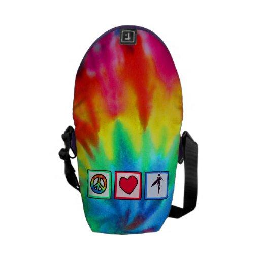 Peace, Love, Surfer Girls Messenger Bag
