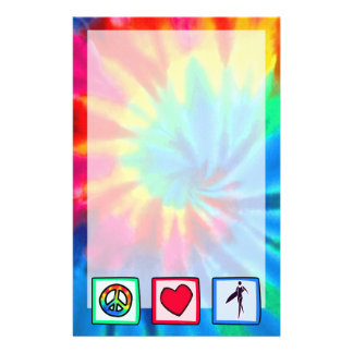 Peace, Love, Surfer Girls Customized Stationery