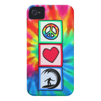 Peace, Love, Surfing iPhone 4 Covers