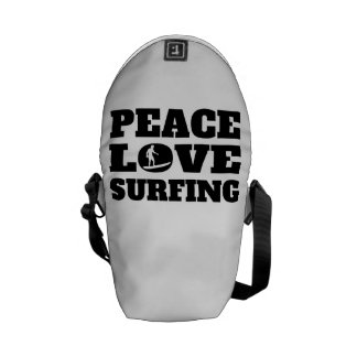 Peace Love Surfing Courier Bag