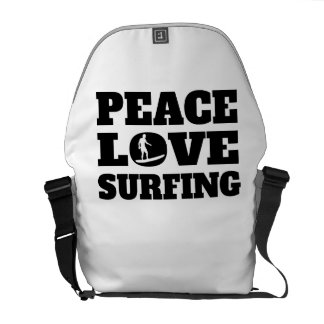 Peace Love Surfing Courier Bags