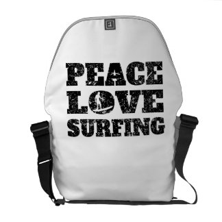 Peace Love Surfing (Distressed) Courier Bag