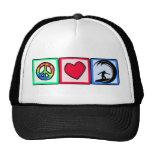 Peace, Love, Surfing Trucker Hat